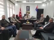 BAŞKAN KUMARTAŞLI İL JANDARMA KOMUTANI J.KD.ALB.ORHAN SIRMA'YI ZİYARET ETTİ.