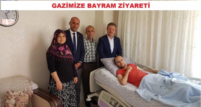 MALÜL GAZİ HASAN ÇELİK'E BAYRAM ZİYARETİ